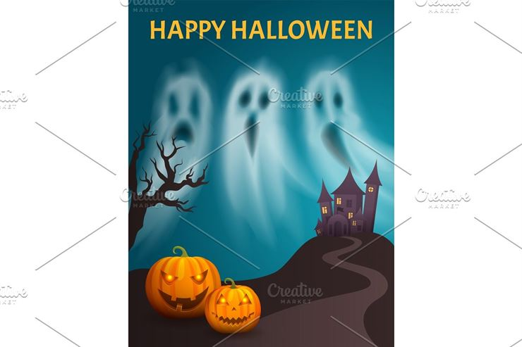 Happy Halloween Spooky Castle Hill Web3Canvas