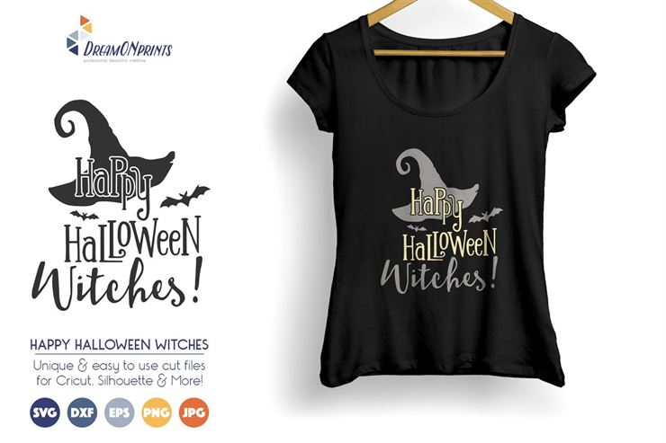 Happy Halloween Witches SVG Vector Web3Canvas