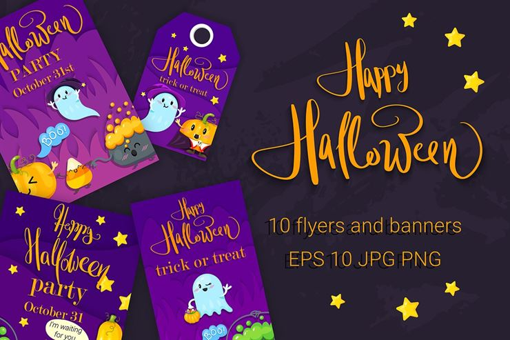Happy Halloween. 10 Flyer Web3Canvas