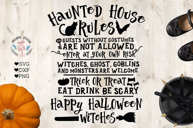 Haunted House Rules Halloween SVG Web3Canvas