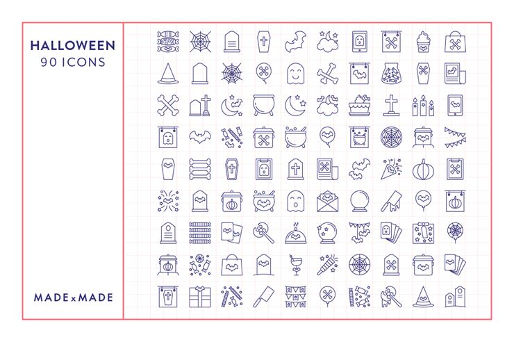 Line Icons - Halloween Web3Canvas