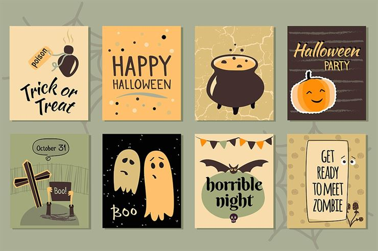 Set of Halloween Cards Web3Canvas