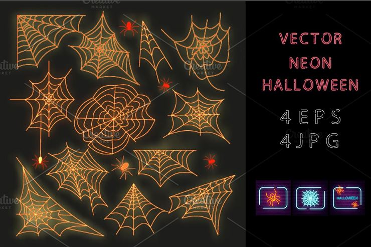 Vector Neon Halloween Web3Canvas
