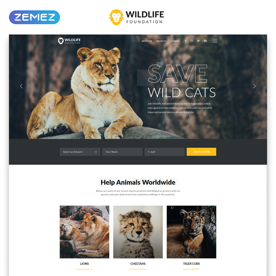 Wildlife Multipage HTML Template